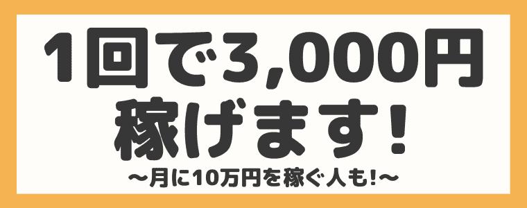 1回の還元額は平均3,000円!