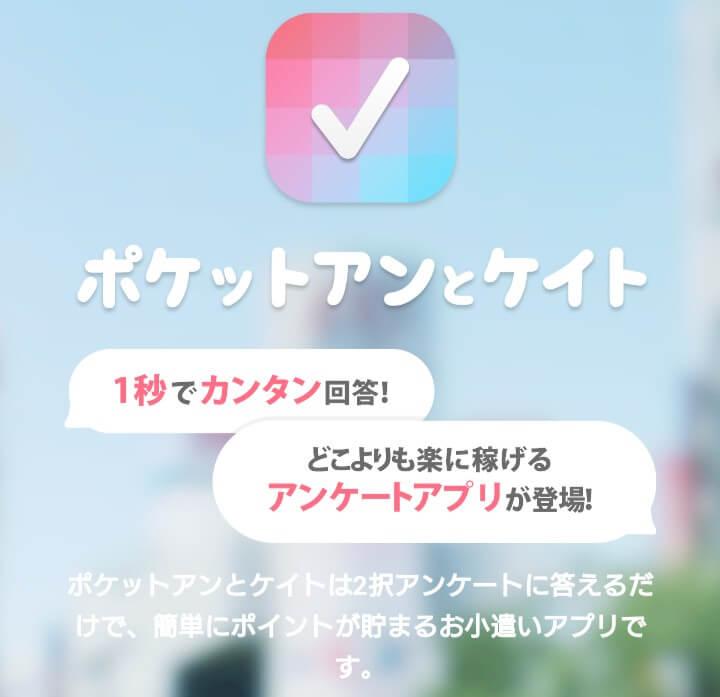 【安全】アンケートモニターで稼げるアプリBEST8! ポケットアンとケイト